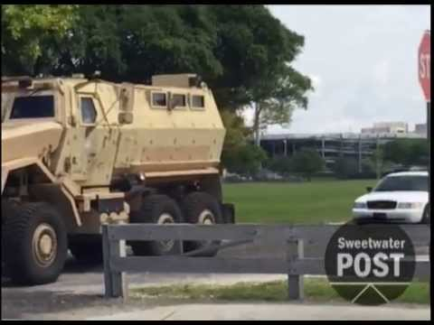 City of Sweetwater Police takes MRAP Vehicle for test drive