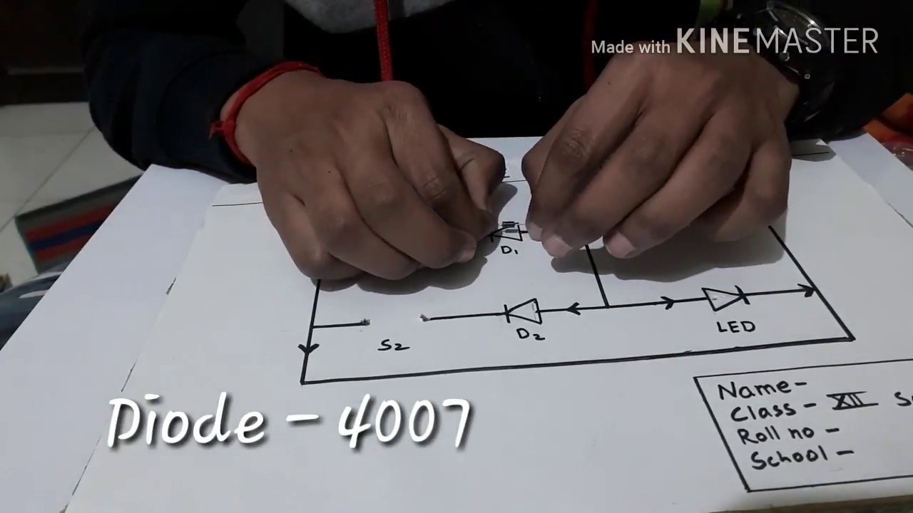 and gate [ logic gate ] class 12 physics project how to make and gate  circuit
