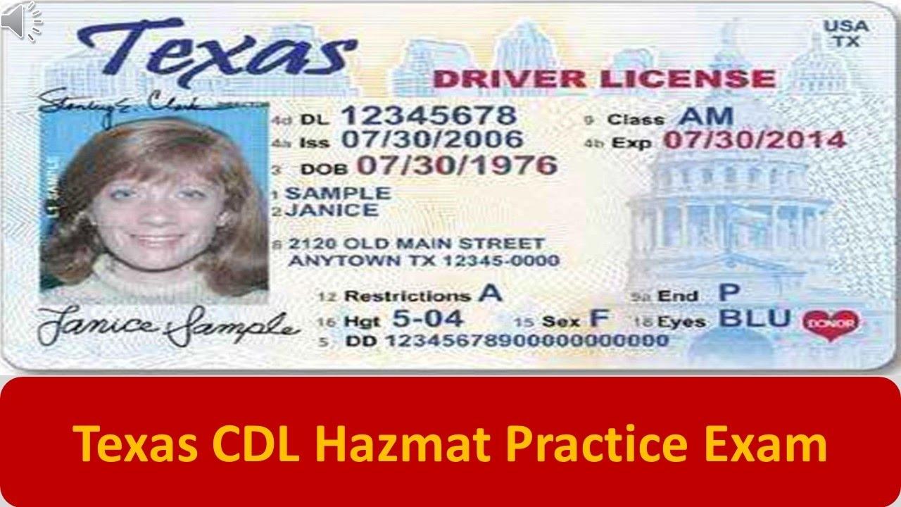 photo regarding Cdl Hazmat Practice Test Printable identified as Texas CDL Hazmat Teach Take a look at