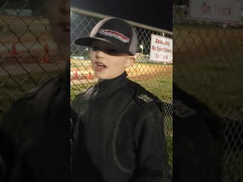 Tyler Danz talking about dirt kart racing at Dawgwood Speedway
