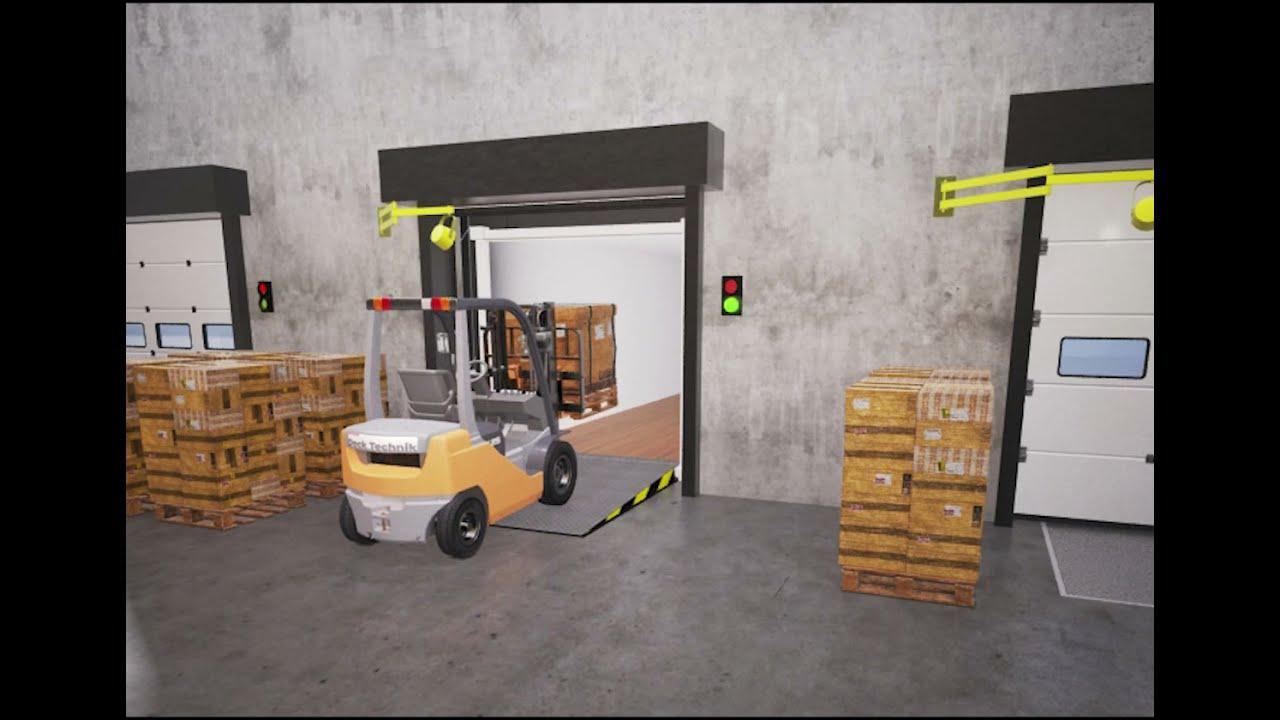 The Dock Technik Swing Lip Dock Leveller