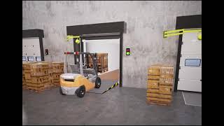 Dock Technik - Retractable Dock Shelter Swing Lip Dock Leveller
