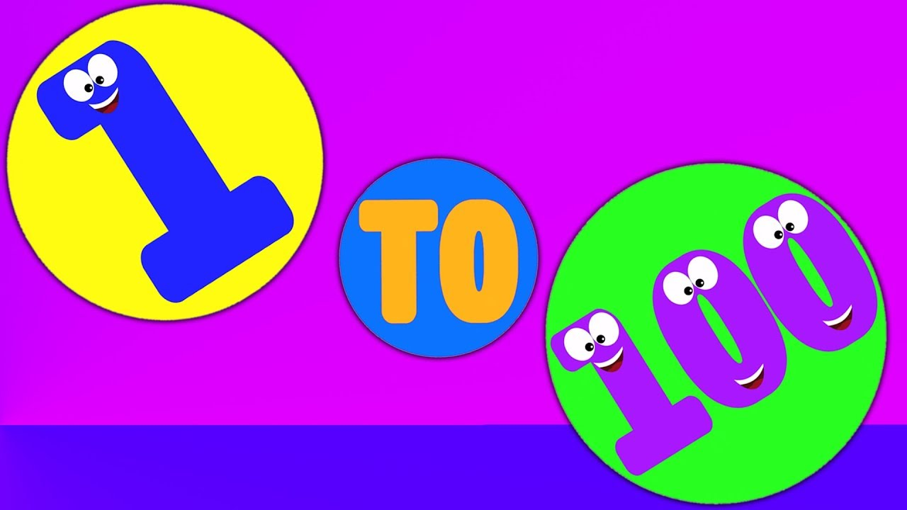 Number Song Hindi Kids Rhymes Learn 1 To 100 Numbers In