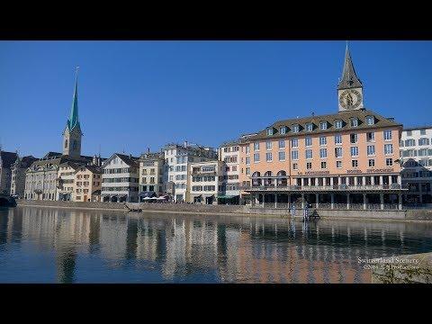 4K Zürich City Moments SWITZERLAND チューリッヒ    苏黎世