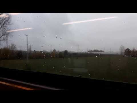 Traveling by train from Antwerp to Mechelen in Belgium