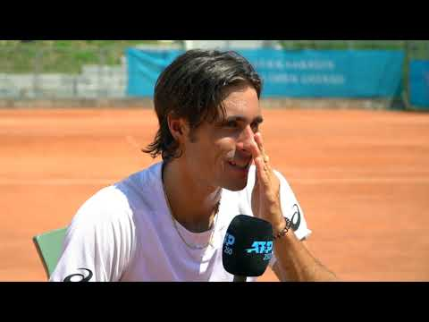 On the practice court with Gian Marco Moroni