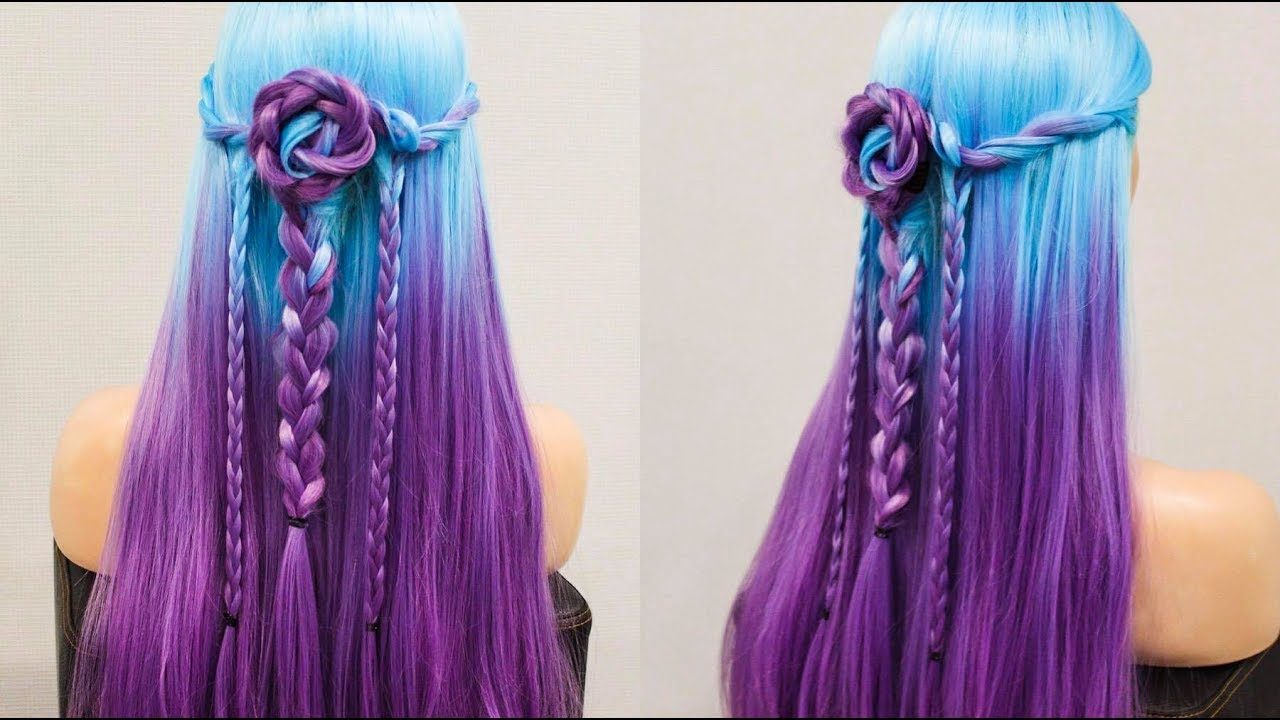 Easy colorful Hairstyles and Braid✔ Awesome Hairstyles ✔