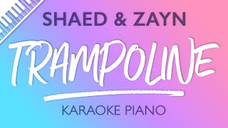 SHAED & ZAYN - Trampoline (Karaoke Piano)