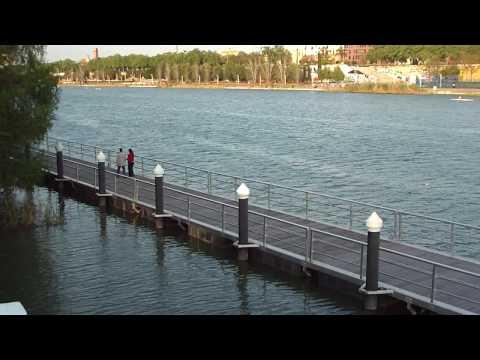 Nueva Pasarela Flotante, Esclusa, Río Guadalquivir...