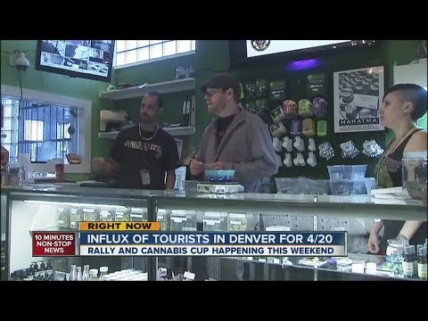 Influx of tourists in Denver for 4/20