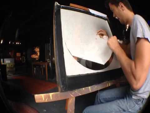 tim carmany reverse glass spray painting youtube. Black Bedroom Furniture Sets. Home Design Ideas