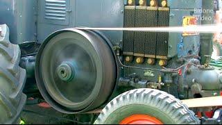 Dreschen mit dem Lanz Bulldog - historic thrashing with a old Tractor