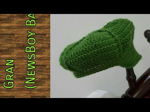 Belajar Crochet: Gran (Newsboy Cap Crochet Full Tutorial)