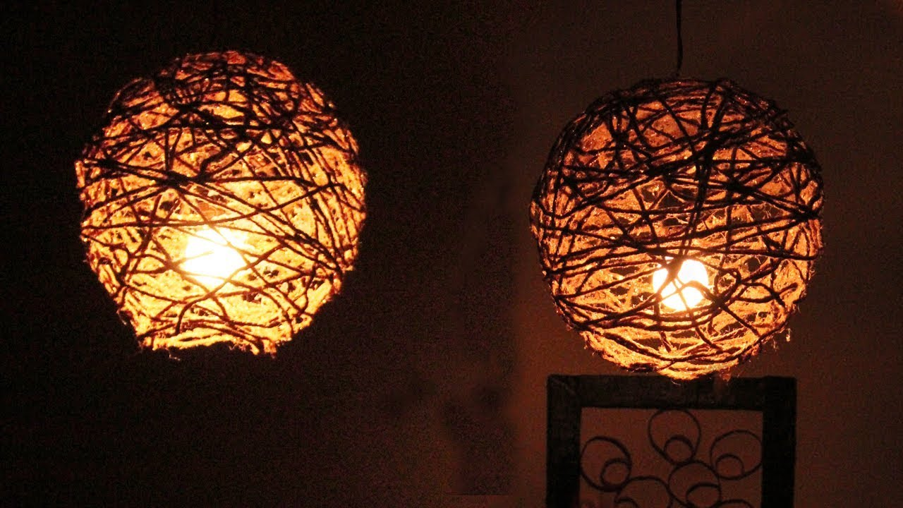 Amazing DIY Idea Balloon And Rope Lamp #DIYCRAFTS how to make - YouTube