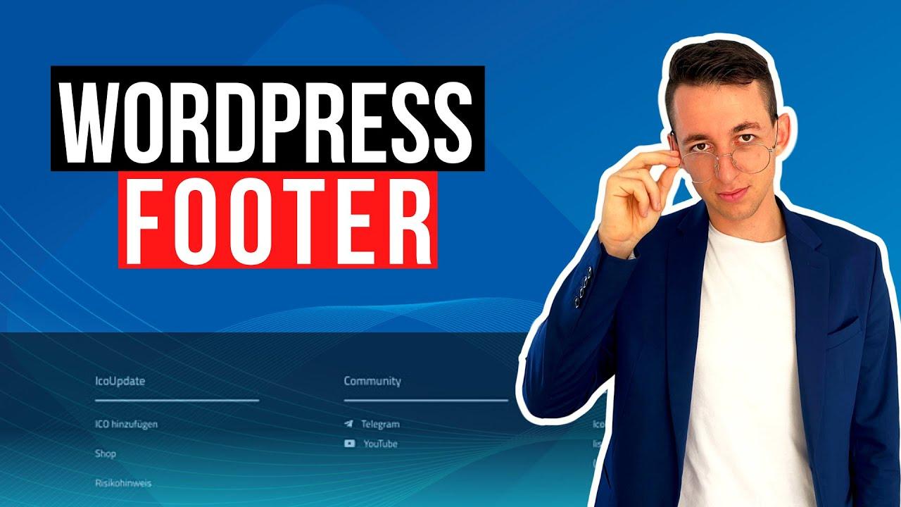 Wordpress Footer bearbeiten - Links in Footer Widget ...