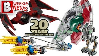 TONS of SETS announced! Star Wars 20th Anniversary wave revealed! | LEGO News