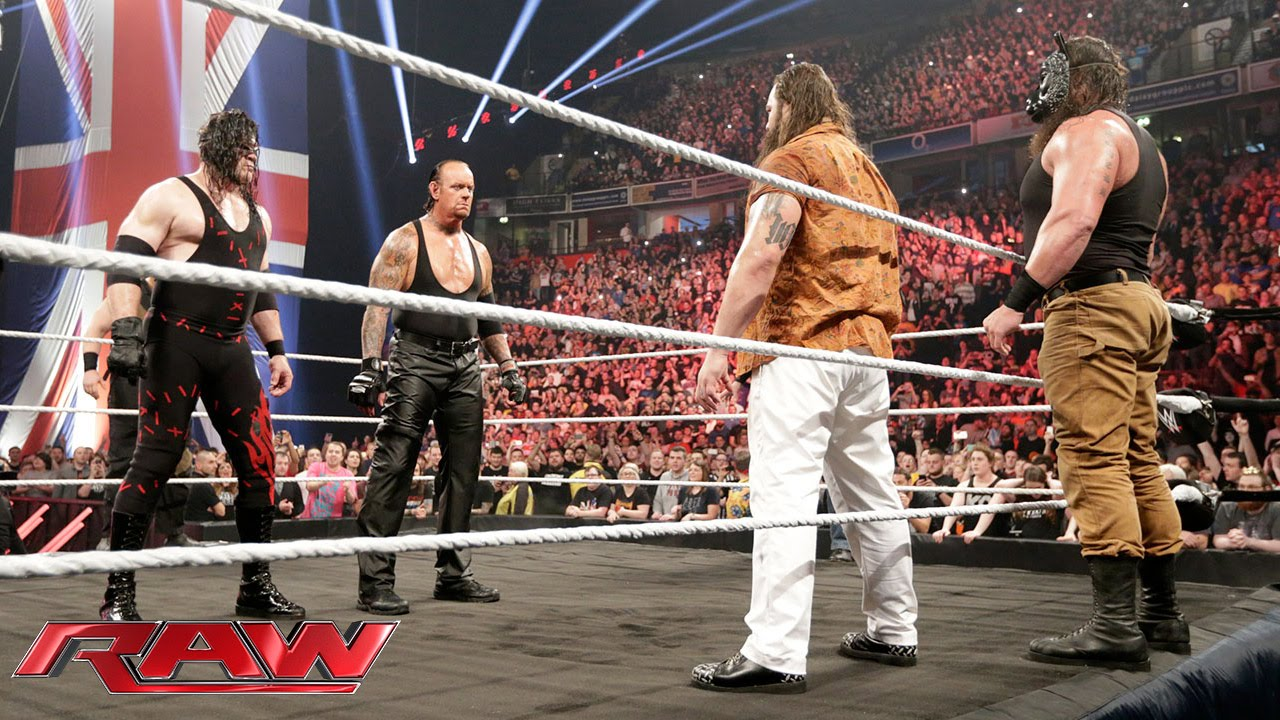 The Undertaker and Demon Kane reemerge to unleash hell upon The Wyatt Family: Raw, November 9, 2015 - YouTube
