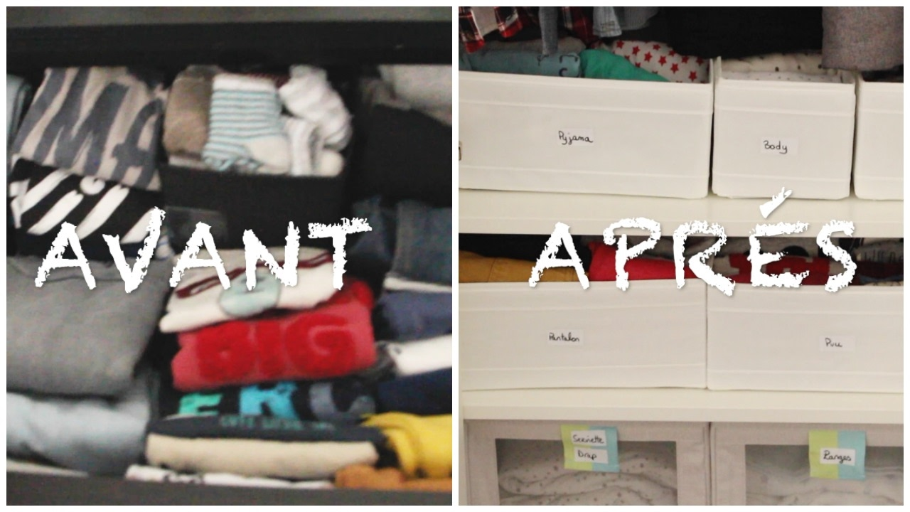organisation astuces rangement armoire de b b youtube. Black Bedroom Furniture Sets. Home Design Ideas