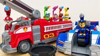 パウ・パトロールザ・ムービーのおもちゃ!DX変形ビークルでアニアの動物をレスキュー!チェイス スーパー ポリスカー、マーシャル スーパー ファイヤートラック、ワンアクションフィギュアが登場!