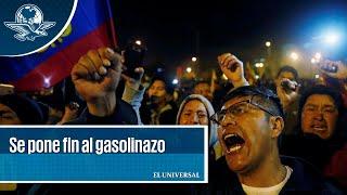 Tras protestas, gobierno cede en Ecuador