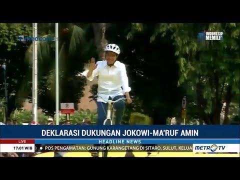 Naik Sepeda, Jokowi Hadiri Deklarasi Alumni UI
