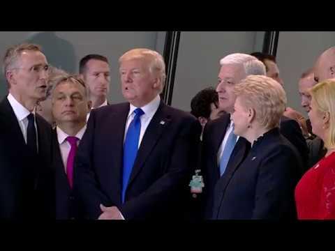 President Trump pushes Montenegro Prime Minister Dusko Markovic