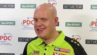 Michael Van Gerwen Post-Match REACTION to 5th Masters Win  | 11-5 win over James Wade