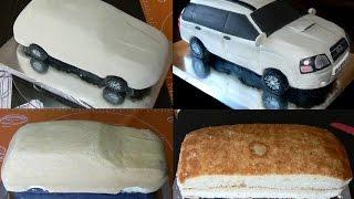 Торт машина. Как сделать торт машину. Оформление сахарной мастикой