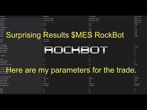 The RockBot Results And $MES Strategy And Inputs Using Ninja Trader