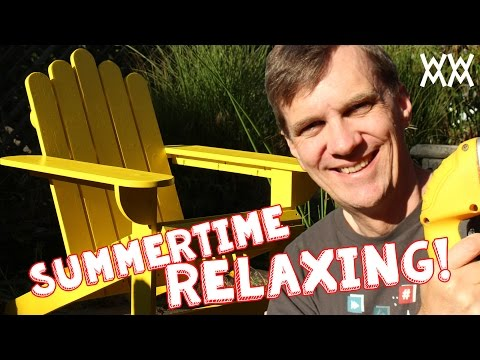 Make an Adirondack chair for your home this summer. Limited tools woodworking project!