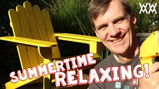 Make an Adirondack chair for your home this summer. Limited tools woodworking project! Thumbnail