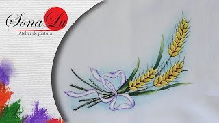 Trigo em Tecido – Pintura em tecido