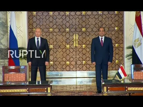 LIVE: Putin and el-Sisi sign documents and hold press conference following meeting in Cairo