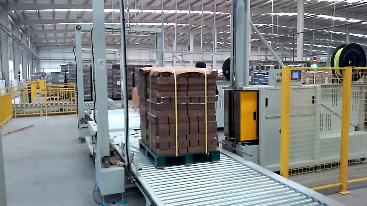 Auto Pallet Strapping Machine Packaging Machine 2 Youtube