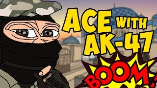CS:GO - ACE WITH AK-47 - ШАРАХАЕМ ЗУБЫ НА МАТЧМЕЙКИНГЕ