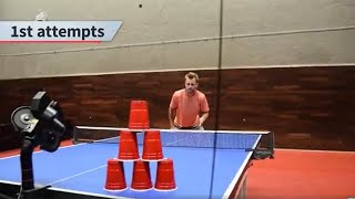 Ping Pong ROBOT BATTLE I Pongfinity vs Michael Maze