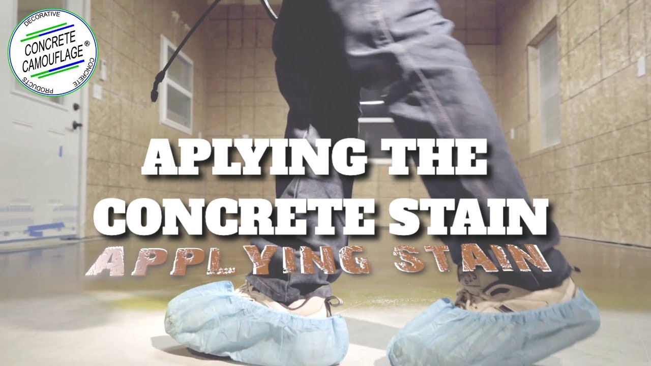 Concrete staining guide 4 how to apply concrete acid for How to clean outdoor stained concrete