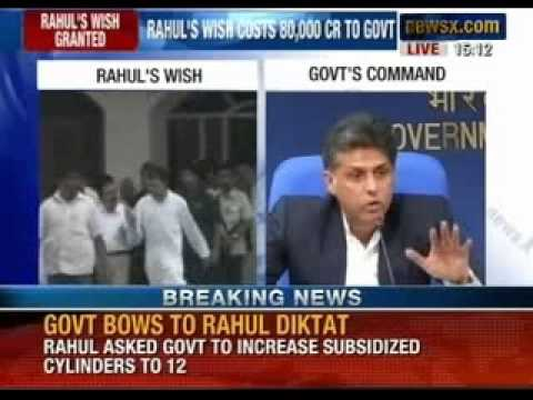 NewsX: Rahul Gandhi suggests Government acts. Subsidised LPG Cylinders raised from 6 to 12