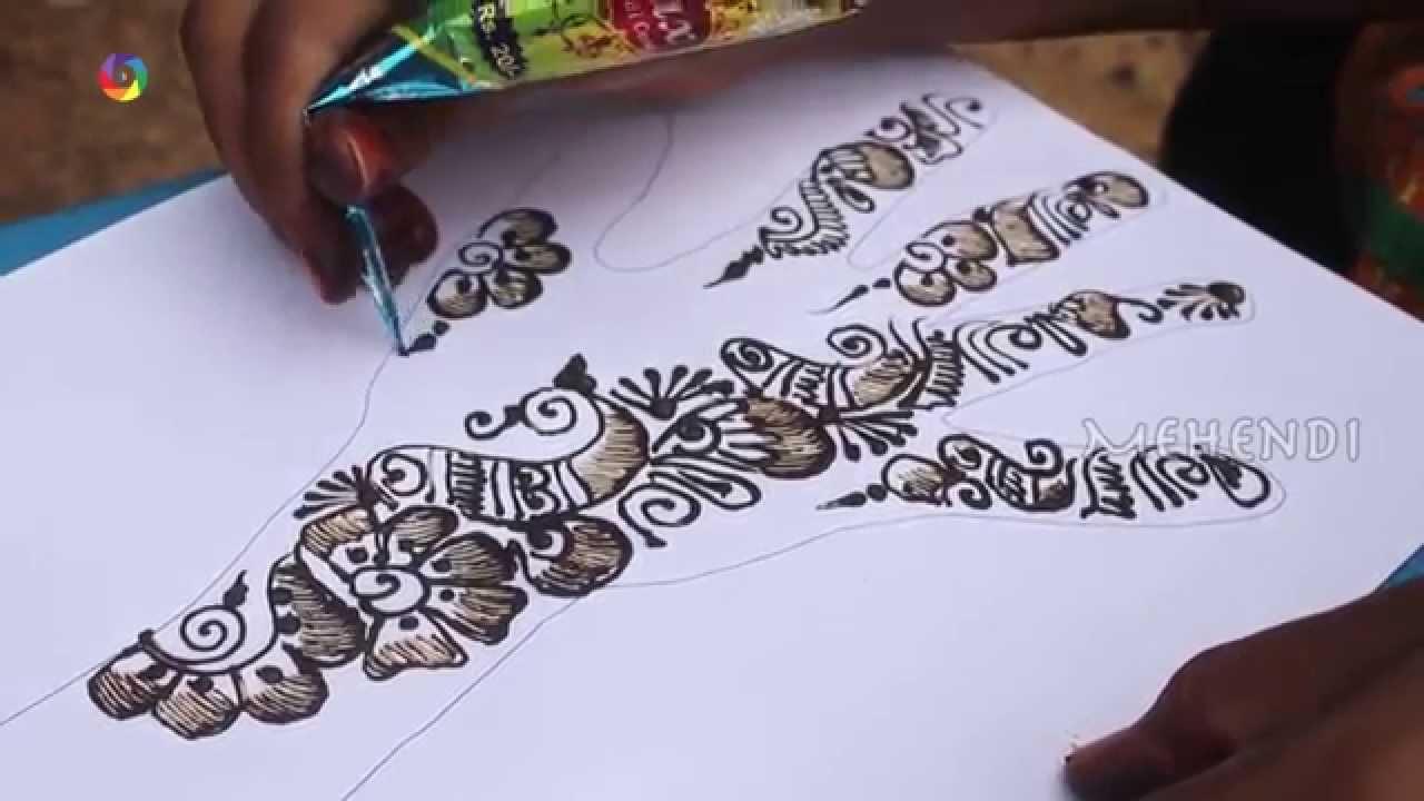 Arabic Right Hand Back Design Mehndi Design Video 2015