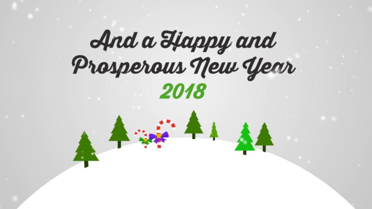 Happy Holidays and Prosperous New Year 2018 - YouTube