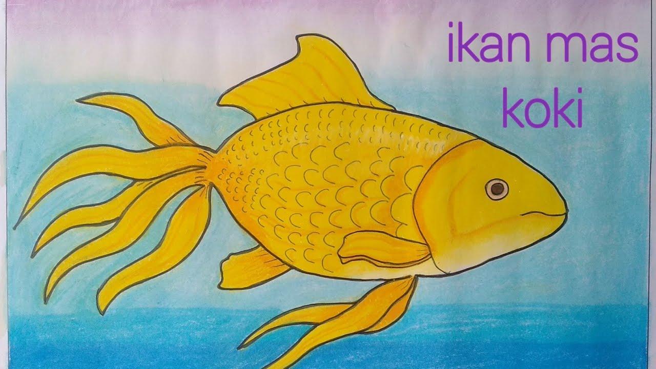 Menggambar Ikan Mas Koki Mewarnai Dgn Gradasi Crayonoil Pastels