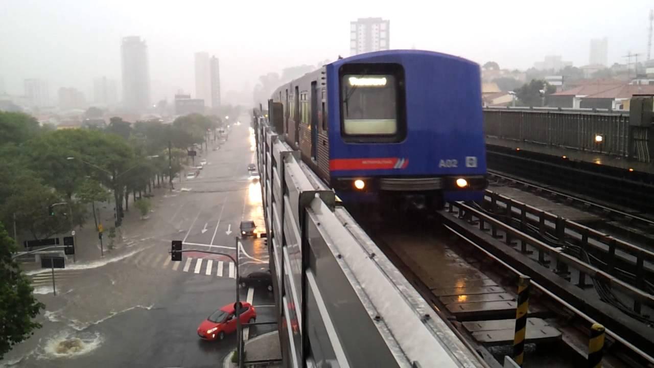 dc9de7ca1338c  HD  Metrô de São Paulo - Linha 1 Azul - Estação Parada Inglesa em Dia de  Forte Chuva Parte 1 - YouTube