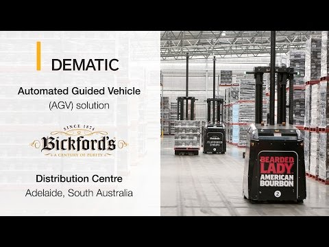 Automated Guided Vehicle (AGV) Solution at Bickford's Distribution Centre - DEMATIC