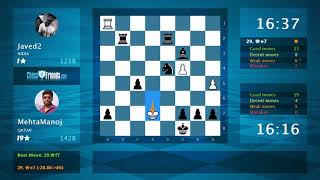Chess Game Analysis: Javed2 - MehtaManoj : 0-1 (By Game Online)