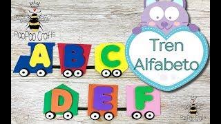 🚂Moldes Gratis | Tren Abecedario | Alphabet Train | Alfabeto en Goma Eva | Foamy Alphabet