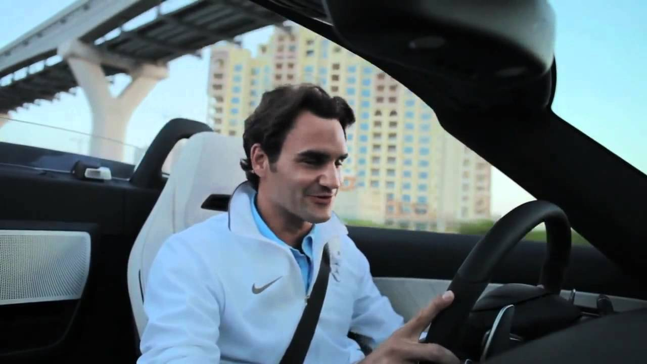 Roger Federer - Brief Review of the 2012 Mercedes SLS AMG (HD)