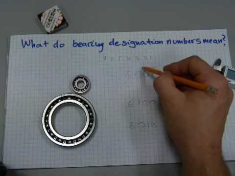 What do bearing designation numbers mean?