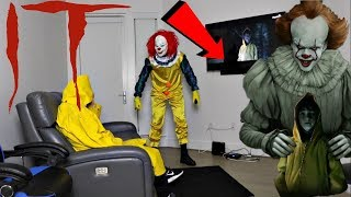 GEORGIE AND PENNYWISE WATCH THE IT MOVIE AT 3AM THEY TRIED TO KILL EACH OTHER OMG!!!!