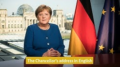 Die Ansprache der Kanzlerin auf Englisch – The Chancellor's address in English
