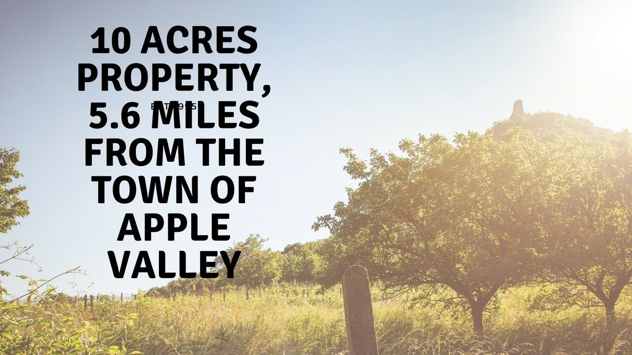 85% Off 10 Acres Apple Valley California!